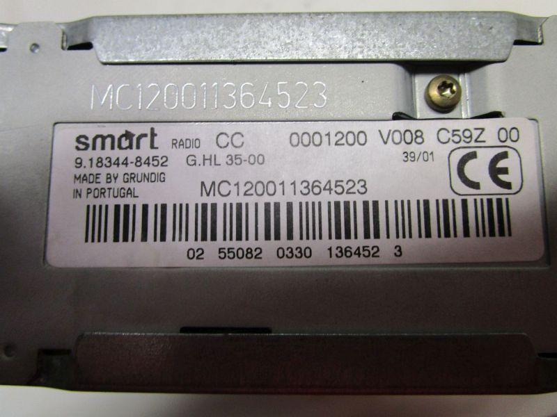 Cassetten-Radio Ohne Code!SMART CABRIO (450) 0.6