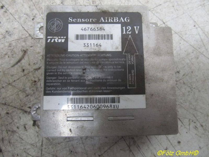 Steuergerät Airbag FIAT PUNTO (188) 1.2 60