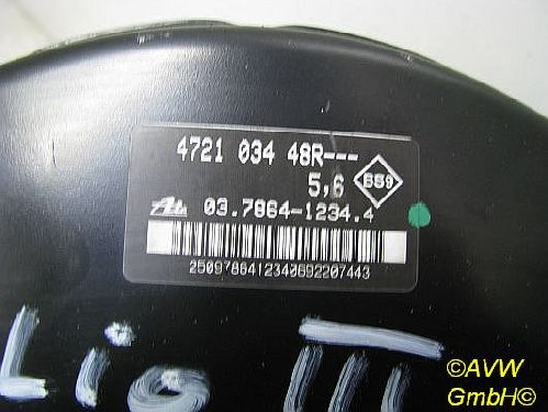 Bremskraftverstärker RENAULT CLIO III (BRA6) 1.6 16V