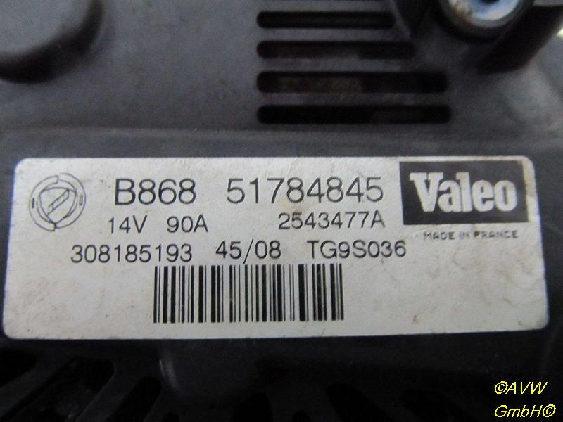 Lichtmaschine Generator 90AFIAT PUNTO/GRANDE PUNTO (199) 1.3 D MULTIJET