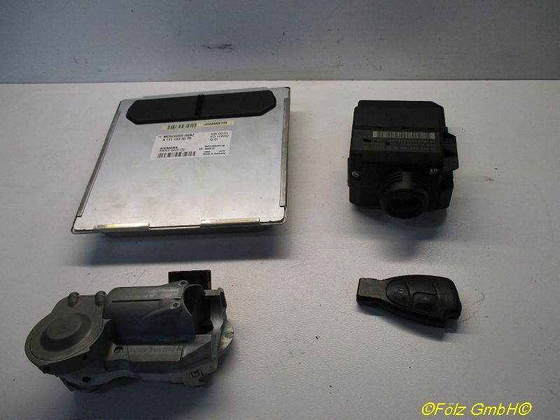 Steuergerät Motor satz Mit ZyndschloßMERCEDES-BENZ C-KLASSE COUPE (CL203) C 200 KOMPRESSOR