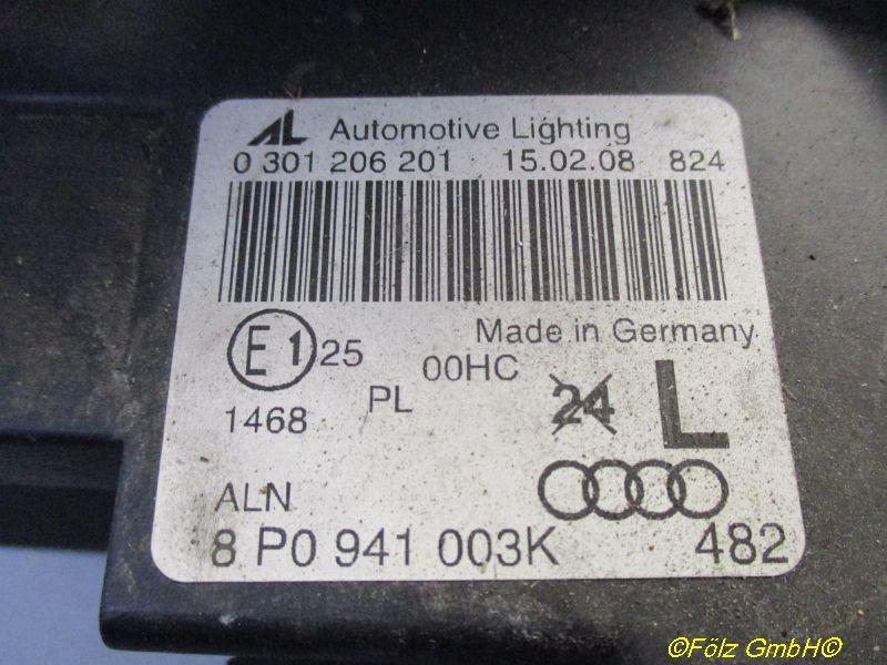 Hauptscheinwerfer links AUDI A3 SPORTBACK (8PA) 1.9 TDI