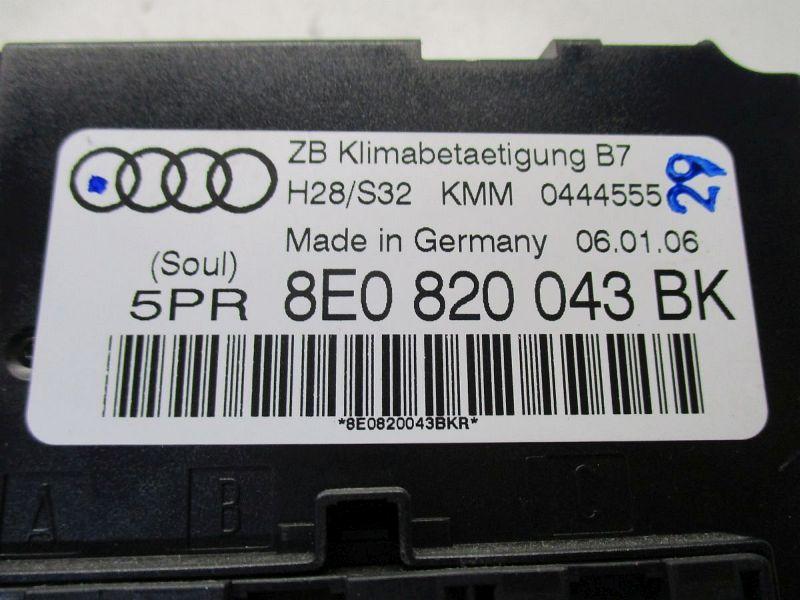 Heizungsbetätigung (Konsole) Gebrauchtspuren siehe BildAUDI A4 AVANT (8ED, B7) 2.0 TDI