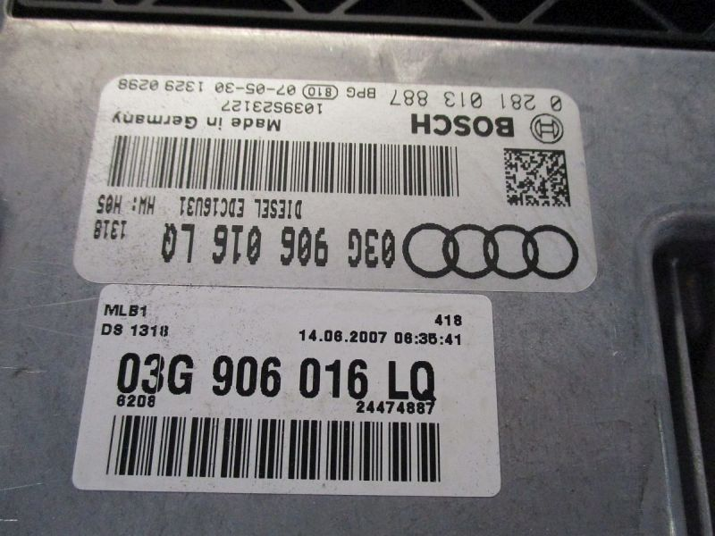 Steuergerät Motor EDC16U31AUDI A4 AVANT (8ED, B7) 2.0 TDI