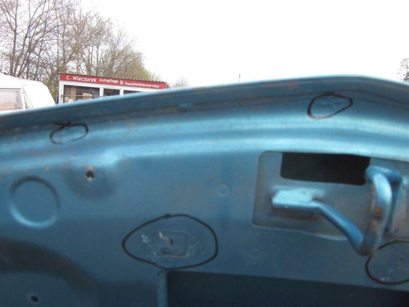 Motorhaube Blau TEJ42 leichter Rost,Kratzer siehe FotoRENAULT MODUS/GRAND MODUS (F/JP0_) 1.2