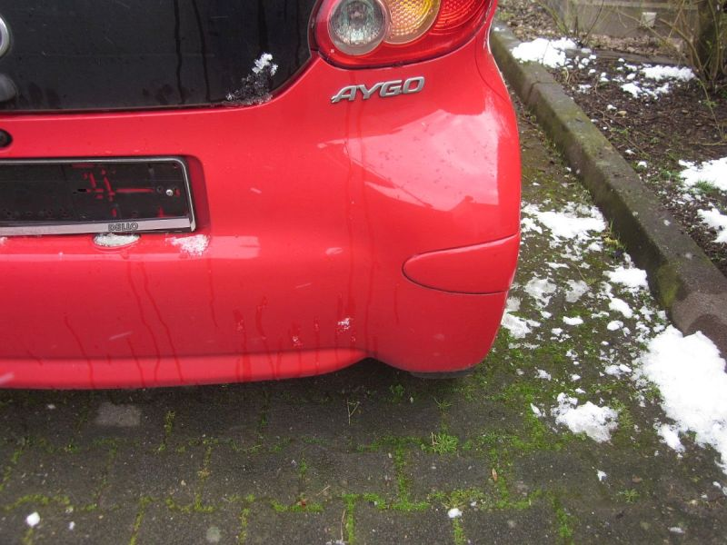 Stoßstange hinten Rot FD10 Kratzer siehe FotoTOYOTA AYGO (WNB1_, KGB1_) 1.0